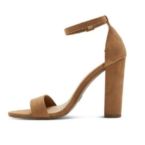 9eb24321a05 Merona Taupe Lulu Block Heel Sandals